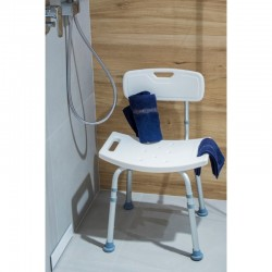 Sprchová židlička, hranatá